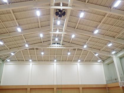 電気工事部 城東市民体育館照明設備改修工事